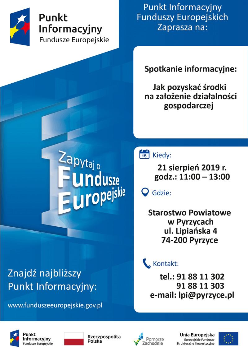 Plakat spotkanie Pyrzyce