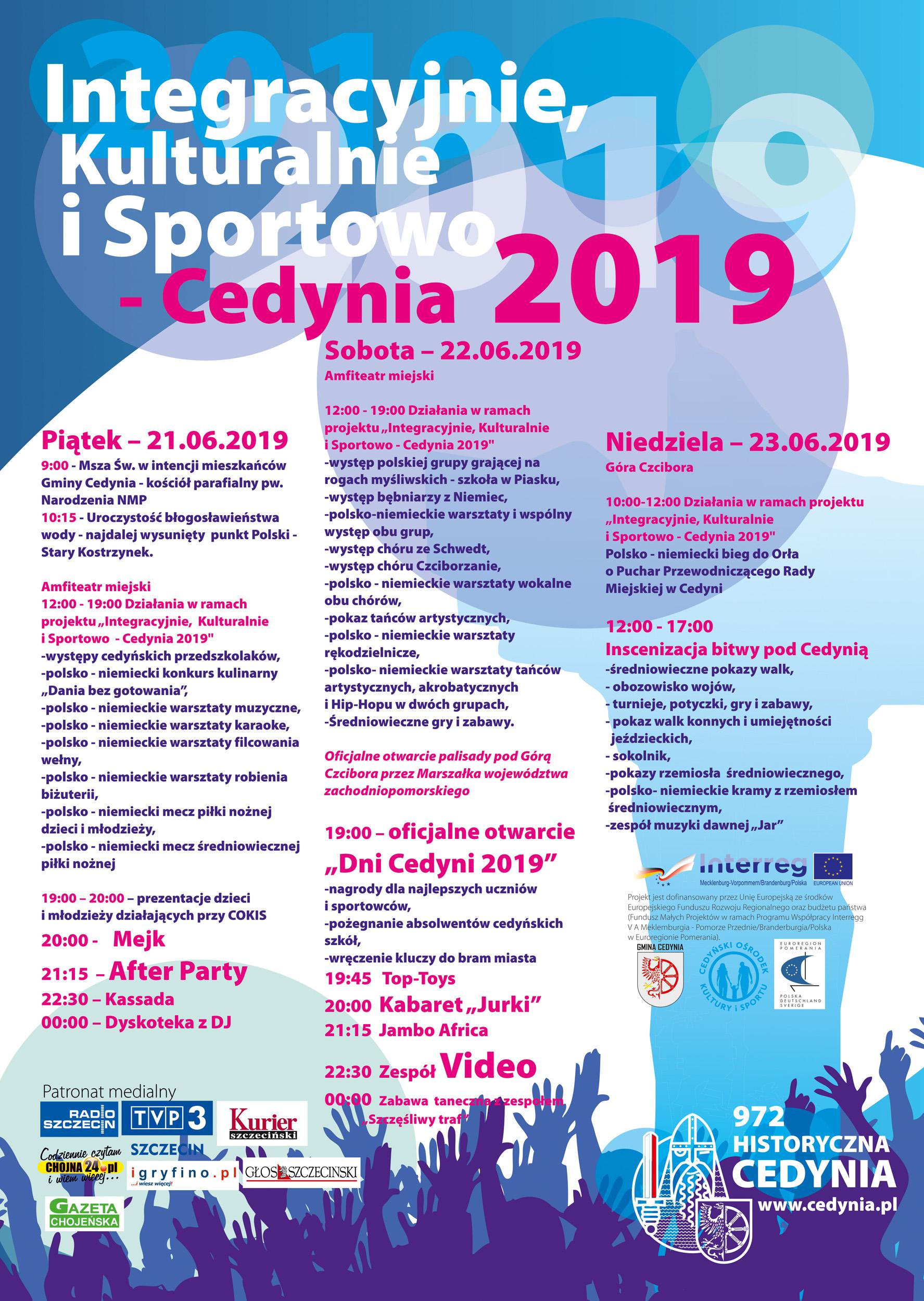 Dni Cedyni 2019 - program