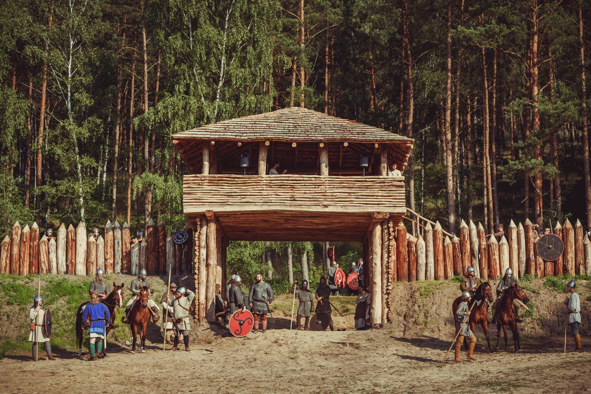 Oficjalne otwarcie palisady pod Górą Czcibora