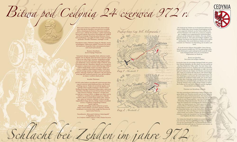 Tablica opisująca Bitwę pod Cedynią