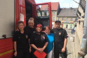 Podziękowanie dla strażaków