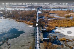 Rowerem po byłym moście kolejowym Siekierki – Neurüdnitz