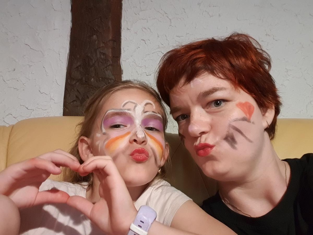 Marika Filińska z mamą