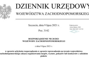 Rozporządzenie Nr 20/2021 z dnia 9 lipca 2021 r.