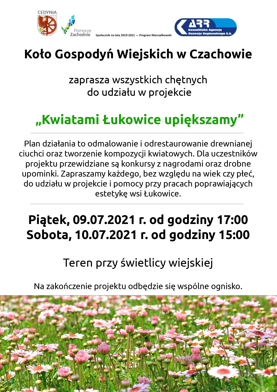 """""""Kwiatami Łukowice upiększamy"""" - zaproszenie"""