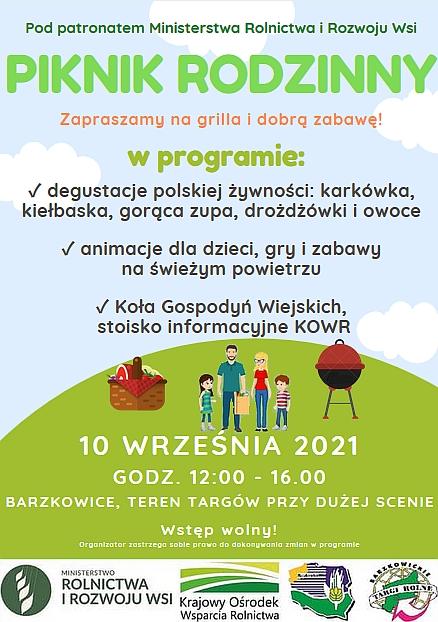 """""""Piknik Rodzinny"""" podczas Targów Rolnych AgroPomerania 2021"""