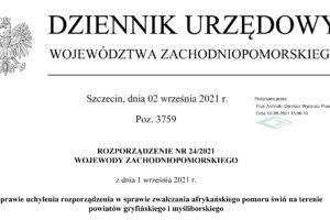 Rozporządzenie Nr 24/2021 z dnia 1 września 2021 r.